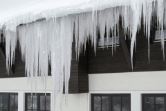 icicles and house facade